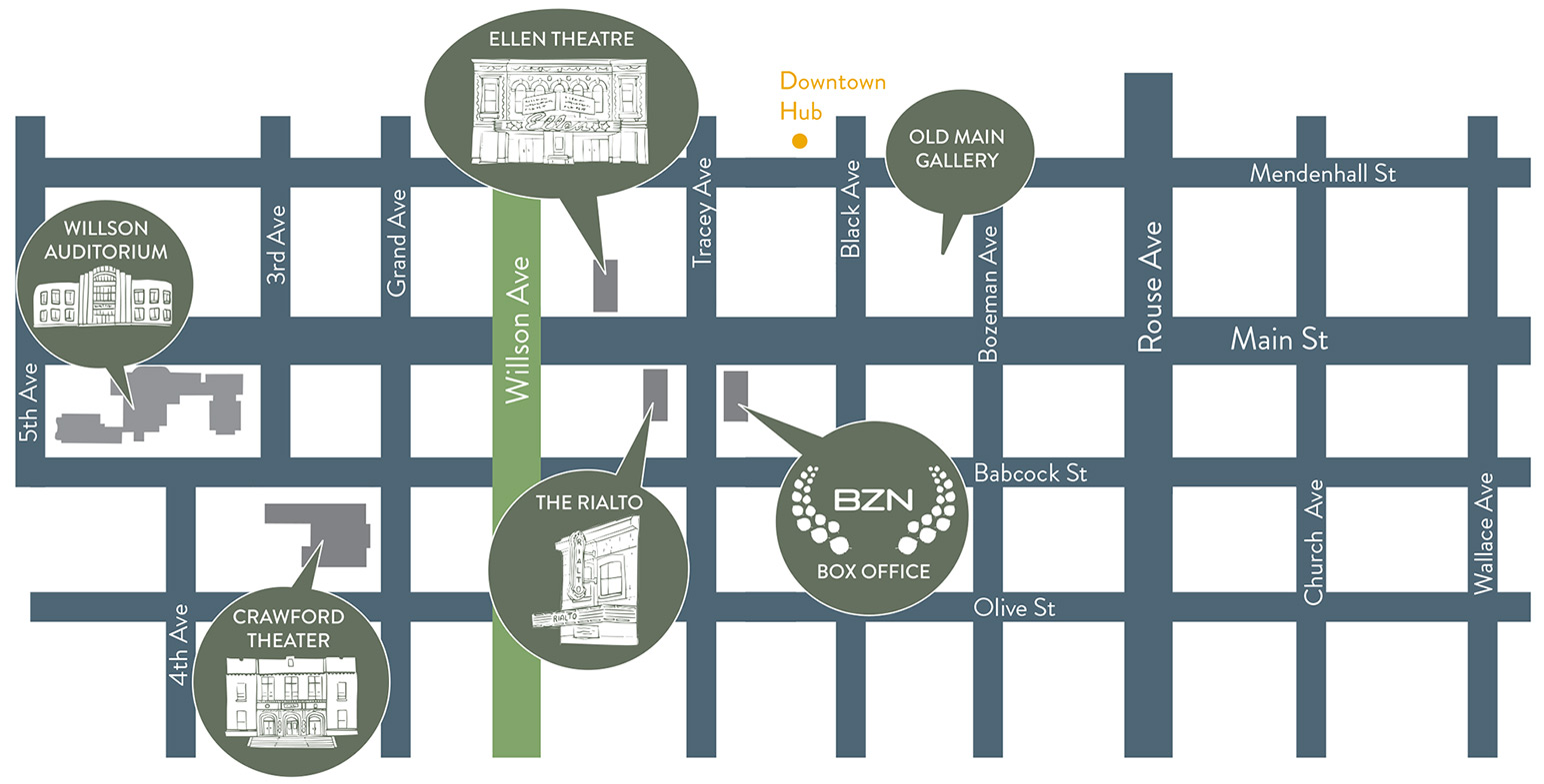 BZN Venue Map - Downtown Bozeman